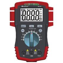 HoldPeak 37C digitális multiméter (VDC, VAC, ADC, AAC, ellenállás, kapacitás, hőmérséklet, frekvencia)