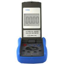 HOLDPEAK 6300A Gépjármű diagnosztikai műszer,4-5-6-8 henger,RPM,zárási szög,impulzus,hőmérséklet,akkus