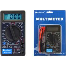 HoldPeak 830B digitális multiméter (VDC, VAC, ADC, ellenállás mérés, dióda, tranzisztor hFE)