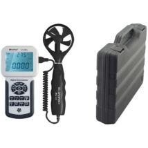 HOLDPEAK 856A Digitális szélerősség, légáramlás és hőmérsékletmérő, 0-45m/sec, -10°C-45°C, USB