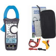 HOLDPEAK 870N Digitális lakatfogó, VDC, VAC, ADC, AAC, ellenállás, kapacitás, frekvencia, 2LCD, TRMS