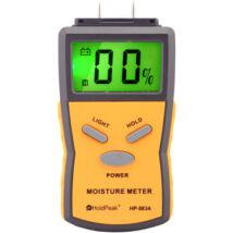 HOLDPEAK 883A Univerzális, digitális nedvességmérő, 5-40%, beépített mérőcsúcs, hord táska