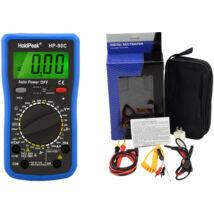 HoldPeak 90C digitális multiméter (kapacitás, dióda, hFE,szakadás, elemteszt)