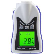 HOLDPEAK 970AK Kézi, infravörös hőmérsékletmérő, -30°C/+275°C, külső érzékelő, C° és F° kijelzés