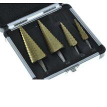 Lépcsősfúró készlet titán bevonattal 4db-os 4-39 mm