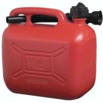 Műanyag benzines kanna kiöntővel (5 literes)