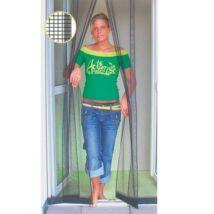 """Lamellás """"luxus"""" szúnyogháló ajtóra 100x220cm (antracit fekete)"""