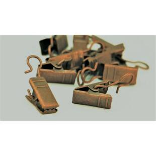 Gardinia fém csipesz karnishoz arany antik(10db/cs)