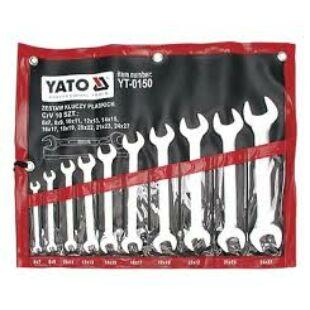 Yato Villás kulcs készlet 10 részes 6-27mm profi