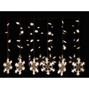 Karácsonyi hóesés fényfüggöny ablakdísz (100x65cm)