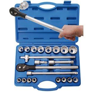 """BGS-1224 Dugókulcs készlet 21 részes 3/4"""" Gear Lock 19-50mm"""