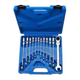 BGS-30950 Racsnis csuklós csillag-villás kulcs készlet 8-19mm