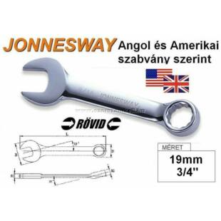 Jonnesway Profi Rövid Csillag-Villáskulcs 19mm