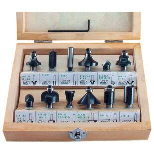 Felsőmaró Készlet 12db-os (Fa dobozban)