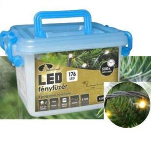 LED karácsonyi kül- és beltéri fényfüzér meleg fehér (8 programos)