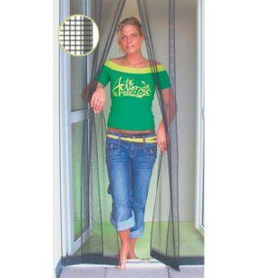 Lamellás szúnyogháló ajtóra 100x220cm (antracit fekete)