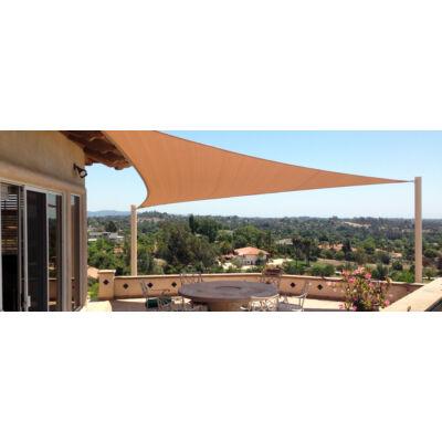 Napvitorla árnyékoló háromszög alakú 3,6x3,6x3,6m (kompletten)