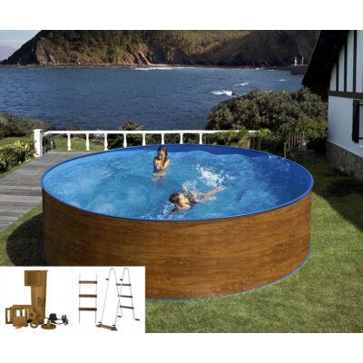ECO WOOD medence 4,6 x 1,2 m + létra + vízforgató