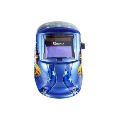 Geko automata hegesztőpajzs, DIN 9-13, sas mintás