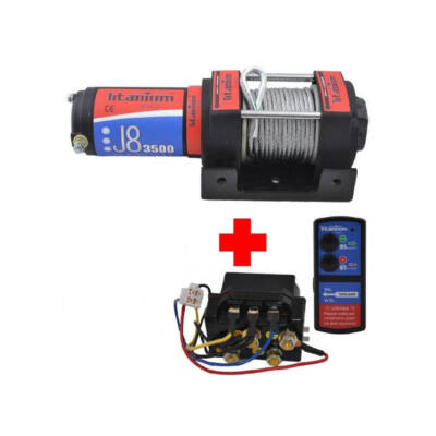 Elektromos csörlő quadhoz 1600kg 12V-os (kompletten)