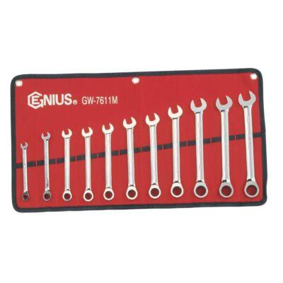 Genius Tools racsnis csillag-villás kulcs készlet, 8-19 mm, 11 db-os