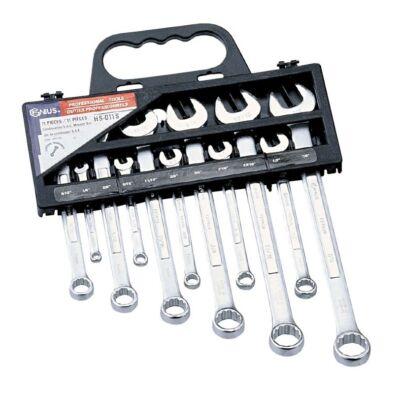 Genius Tools csillag-villás kulcs készlet, 7-19 mm, 11 db-os