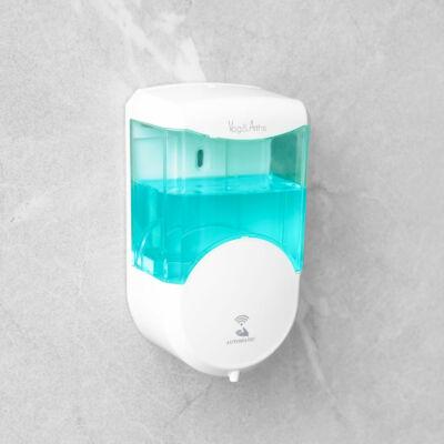 Automata szappanadagoló, fali, 600ml, áttetsző