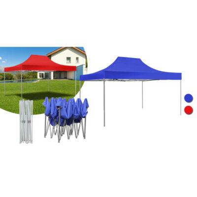 Kerti pavilon, összecsukható 3x4,5 m, piros
