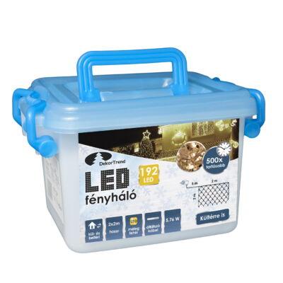 LED karácsonyi fényháló 2x2m meleg fehér