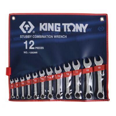 King Tony12 részes rövid csillag-villáskulcs készlet