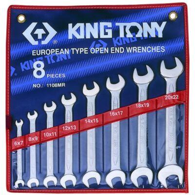 King Tony 8 részes villáskulcs készlet 6-22 mm