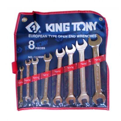 King Tony 8 részes villáskulcs készlet coll