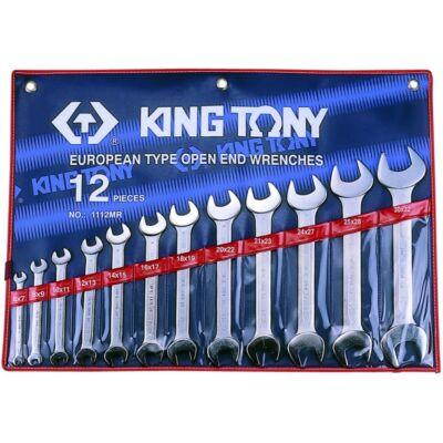 King Tony12 részes villáskulcs készlet coll 1/4˝-1-1/4˝