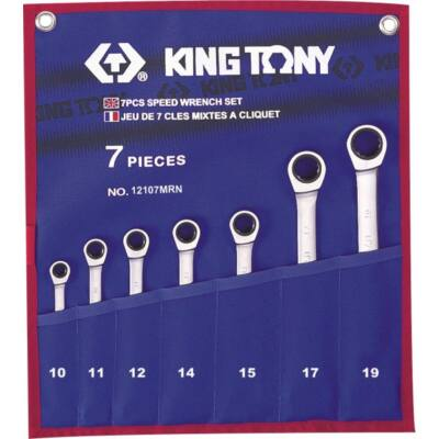 King Tony 7 részes racsnis csillag-villás kulcs készlet