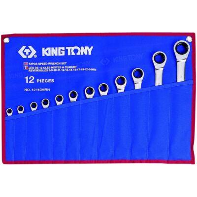King Tony 12 részes racsnis csillag-villáskulcs készlet