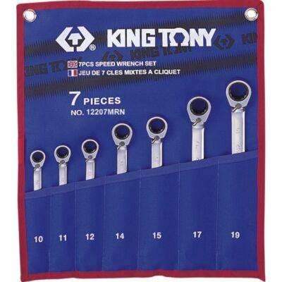 King Tony 7 részes racsnis csillag-villáskulcs készlet irányváltós