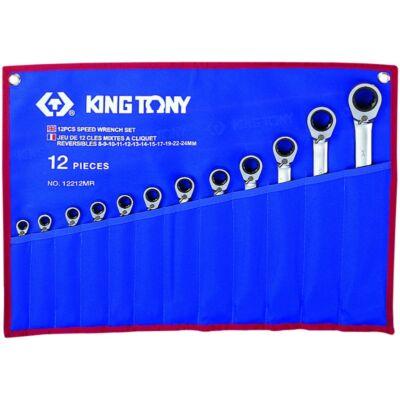 King Tony 12 részes racsnis csillag-villáskulcs készlet irányváltós