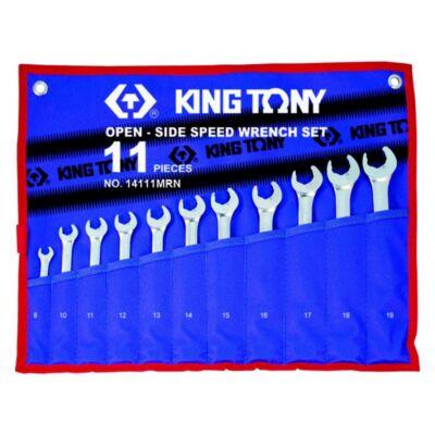 King Tony 11 részes racsnis villás-csillagkulcs készlet 8-19 mm