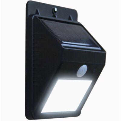 Napelemes fali LED lámpa mozgásérzékelővel (fekete)