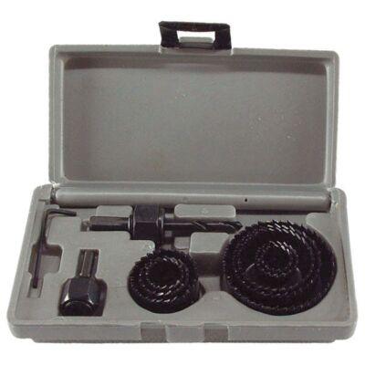 """Körkivágó készlet fához (műanyag dobozban, 11db, 1"""", 20-65mm)"""