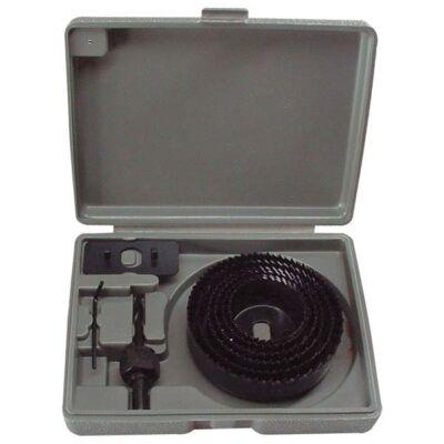 """Körkivágó készlet fához (műanyag dobozban, 8db, 1"""", 64-127 mm)"""