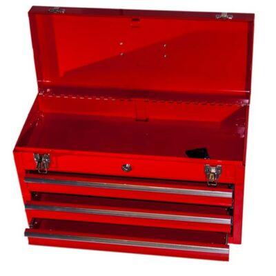 Fém szerszámos láda 3 fiókos (52x21x30cm)