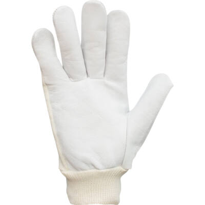 Munkavédelmi kecskebőr kesztyű, kötött pamut kézháttal (9-es)