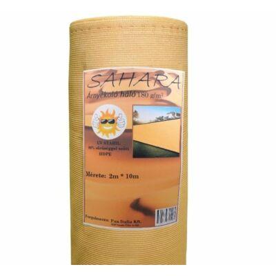 Bézs SAHARA árnyékoló háló, 180gr/m2,  90%,HDPE 2x50 m