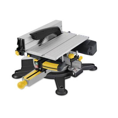 PowerPlus POWX07582 sárga elektromos asztali körfűrész 254mm 1800W