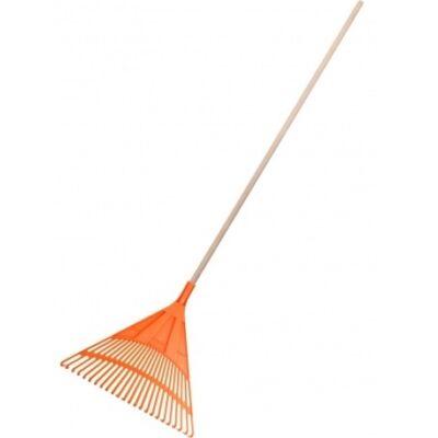 Műanyag lombseprű gereblye 22 fogas 50cm (150cm)