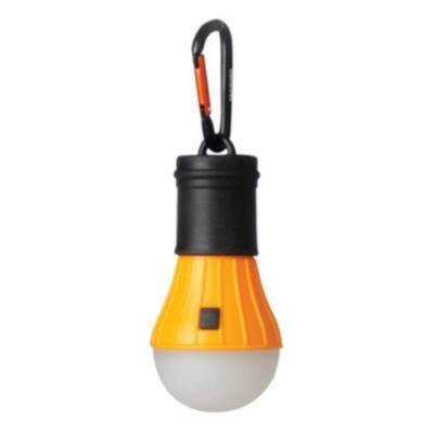 Kemping lámpa akaszthatós karabinnal