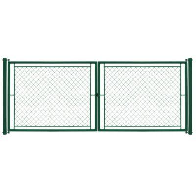 Kétszárnyú kapu IDEAL Zn+PVC 3,6 x 1,2m