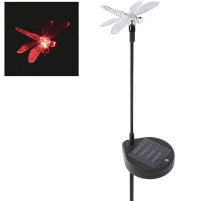 Szitakötő LED-es kerti szolárlámpa