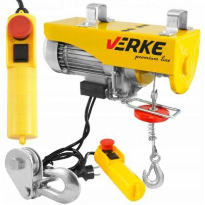 Verke V06052 elektromos csörlő 1300W / 400/800kg / 6/12m